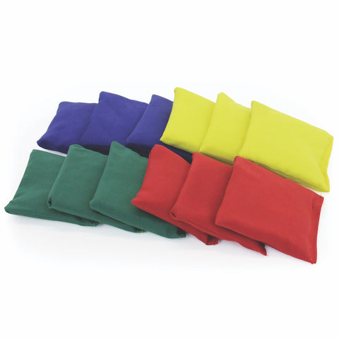 Cotton Rectangle Bean Bags (Pack Of 12)