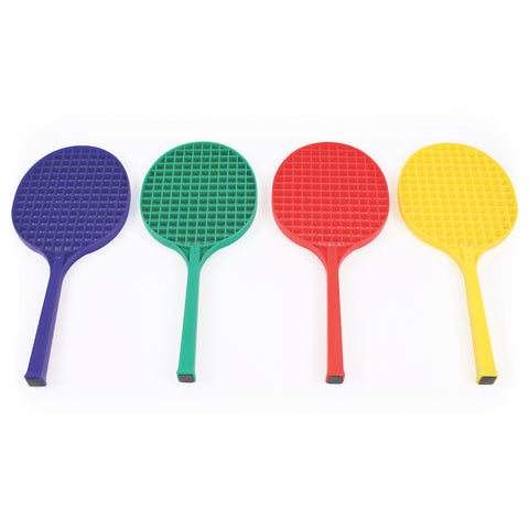 Plastic Type Tennis Rackets - 48cm (Pack Of Four)