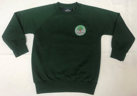 Bottle Green Embroidered Sweatshirt (BWA)