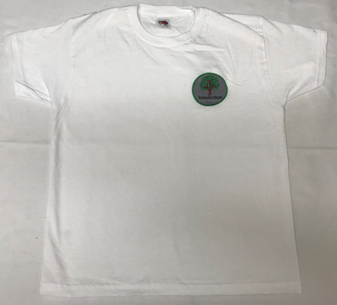 White Embroidered PE Tee Shirt (BWA)
