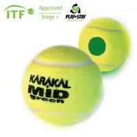 Karakal MID Green Short Tennis Ball (Pack of 12)