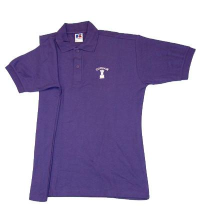 Key Stage 3 Purple Embroidered Polo Shirt (CS)
