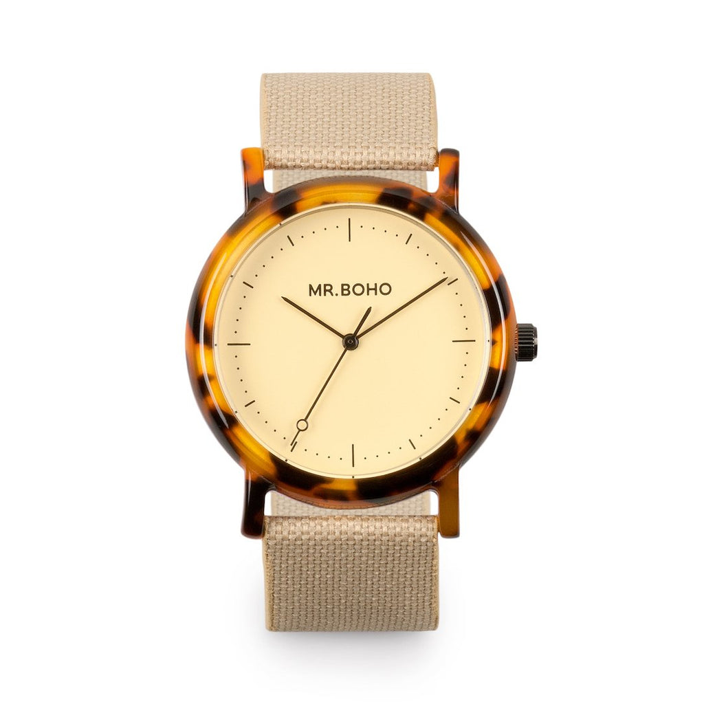 Acetate Champagne Flecked - Mr Boho Mens Casual Watch
