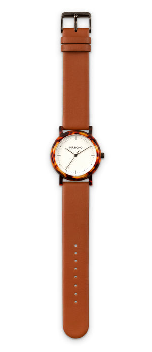 Acetate White Walnut Watch