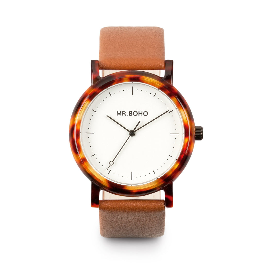 Acetate White Walnut - Mr Boho Mens Casual Watch