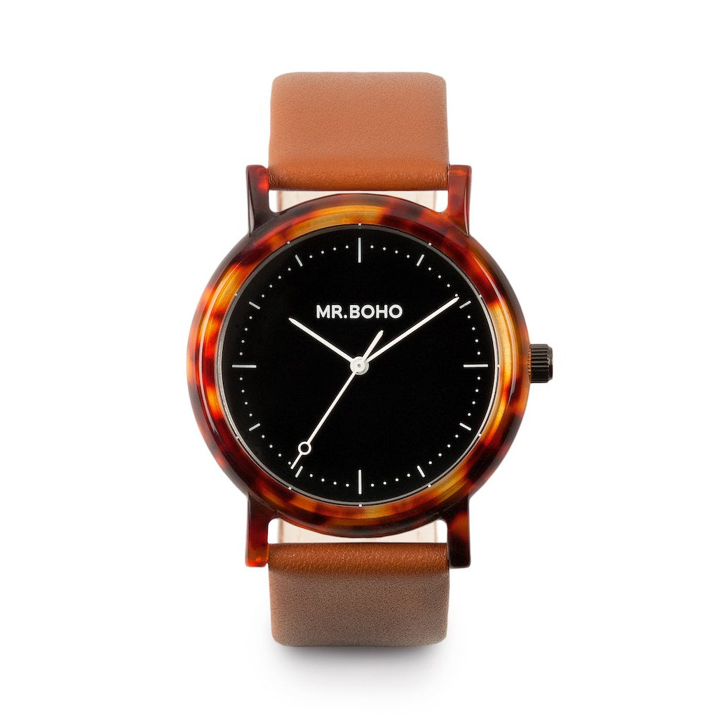 Acetate Black Walnut - Mr Boho Mens Casual Watch