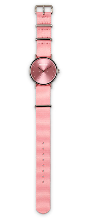 Metallic Cadet Casual Pink Lady Iron Watch
