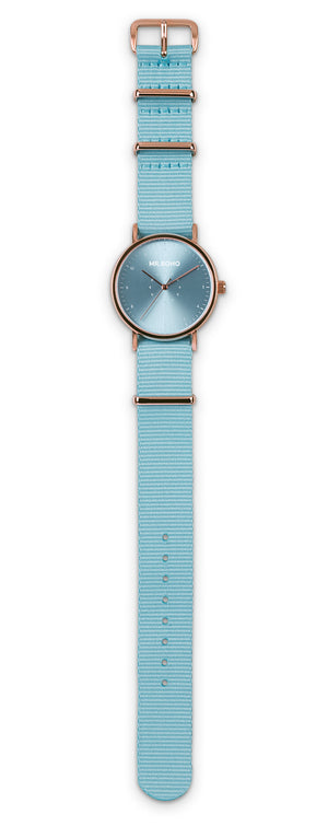 Metallic Cadet Casual Baby Blue
