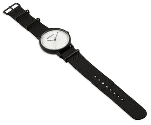 Metallic Casual Black White Watch