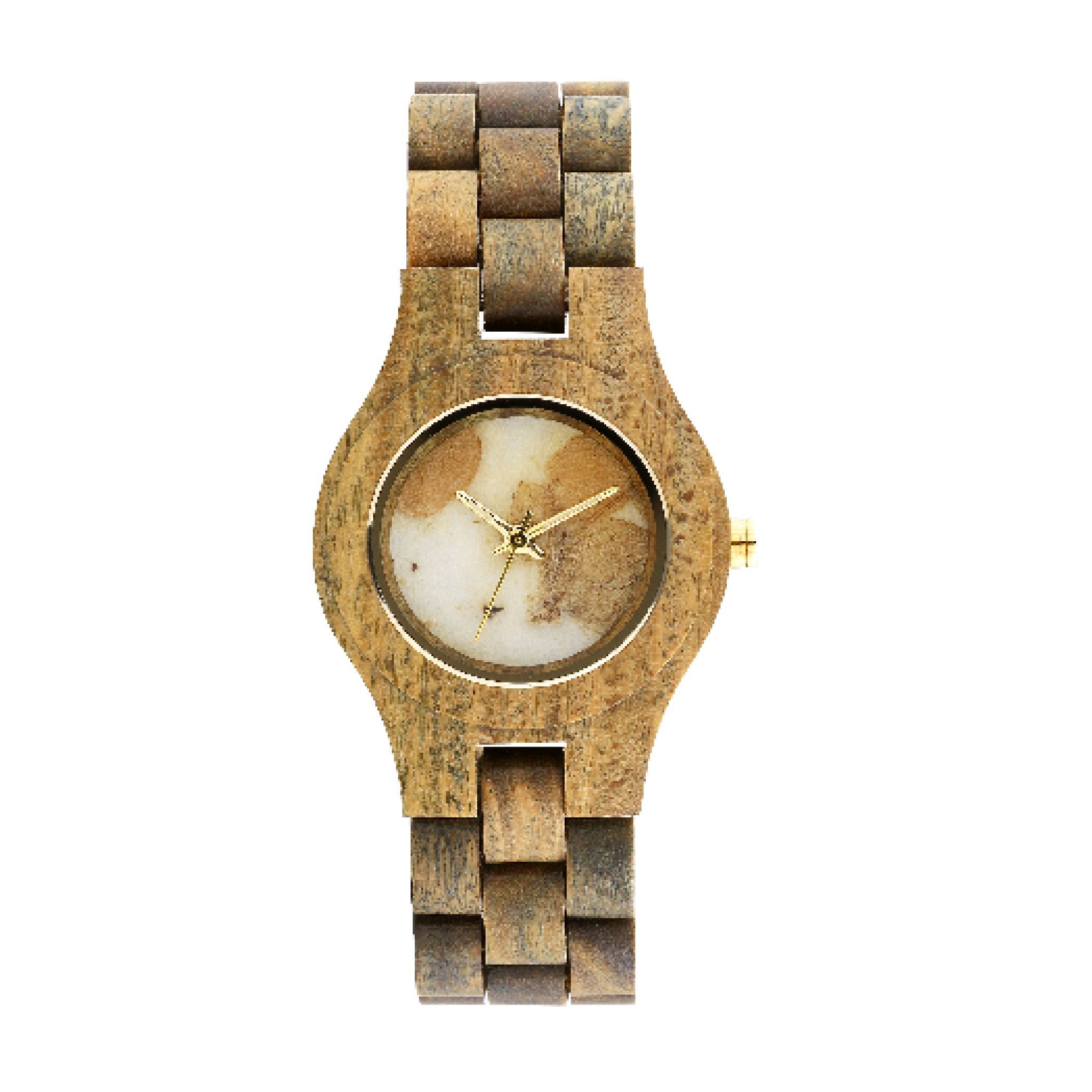 Criss Hortensia Army Wood Watch