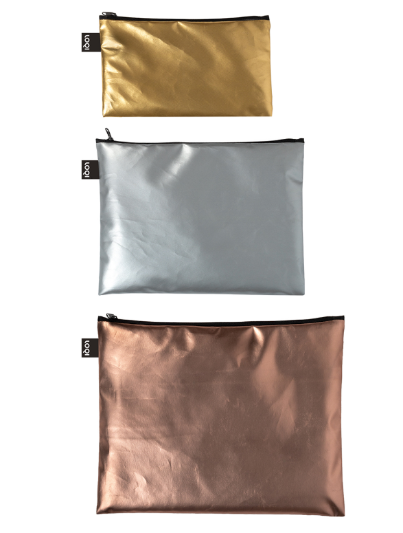LOQI Metallic (Set of 3) Pockets
