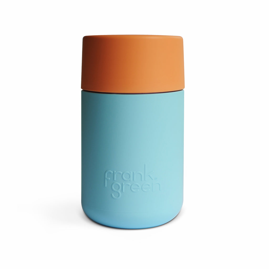 Frank Green - Smart Cup 12oz - light Aqua / Mid Orange / Light Aqua Coffee Cup