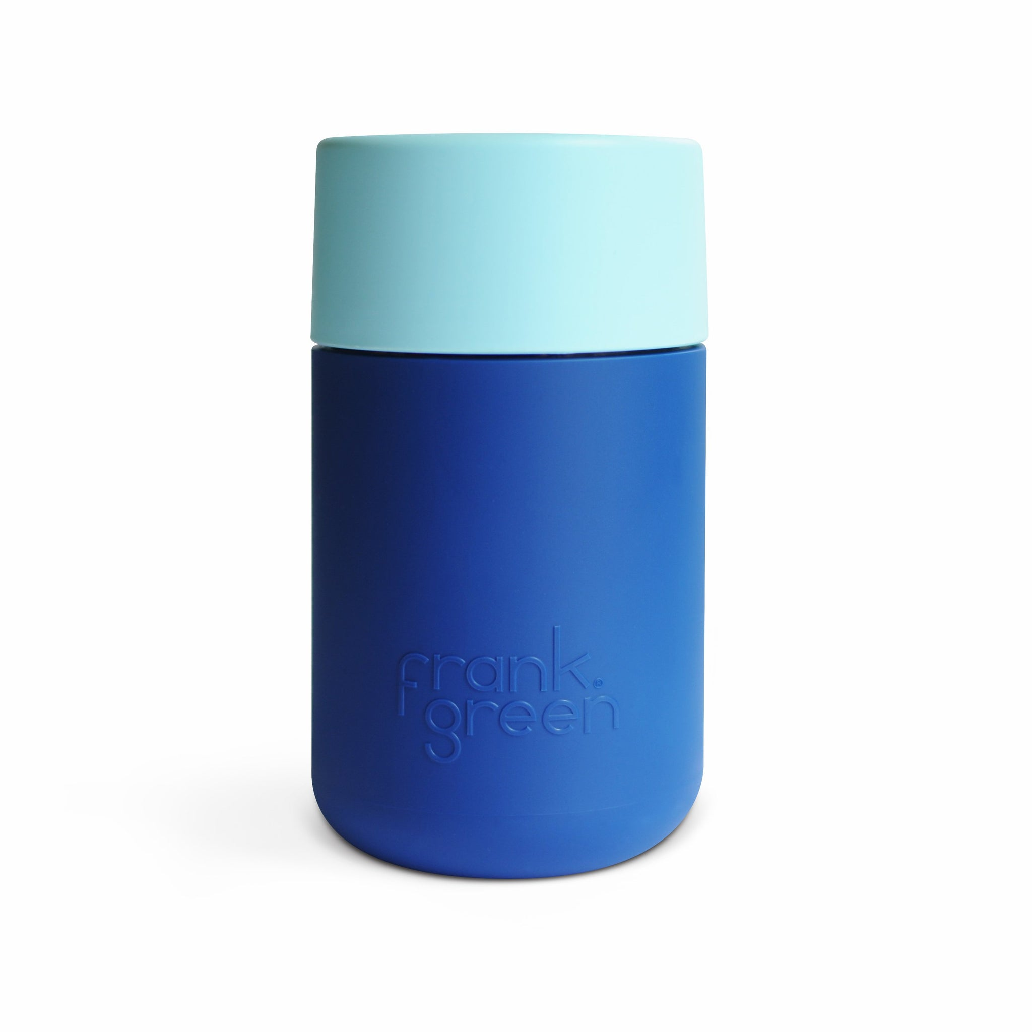 3a10576660f5 Frank Green - Smart Cup 12oz - Navy   Light Aqua Coffee Cup - Branched