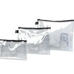 LOQI Transparent (Set of 3) Pockets