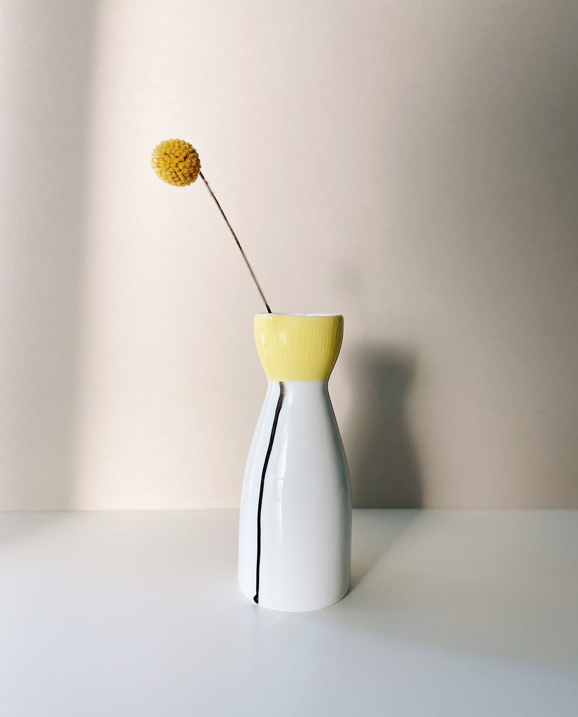 Single Flower Vase - Yellow