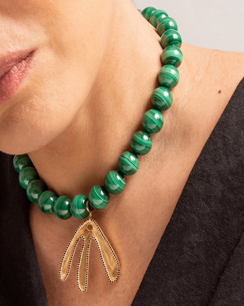 Malachite KAKTOS collar - Special Edition