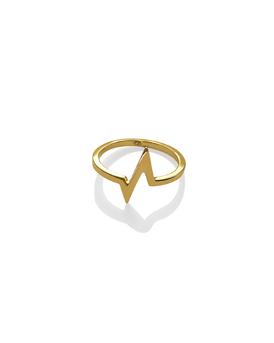 Heartbeat Ring - Gold
