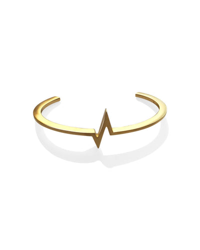 Heartbeat Bracelet for Men - Gold