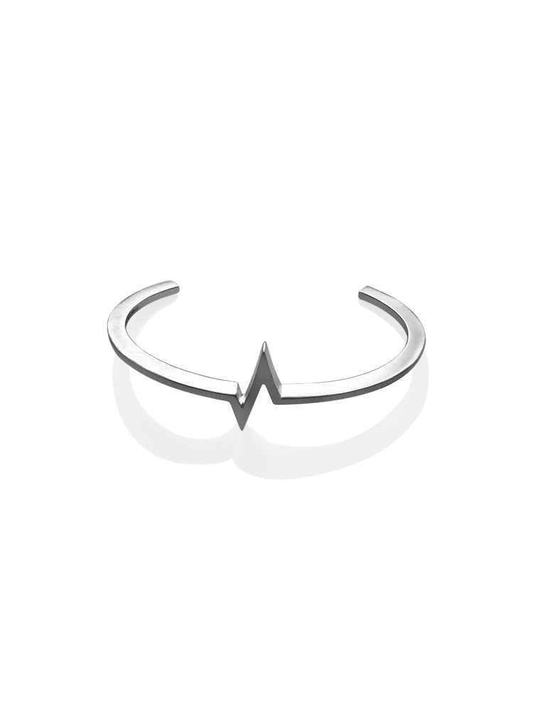 Heartbeat Bracelet for Men - Silver