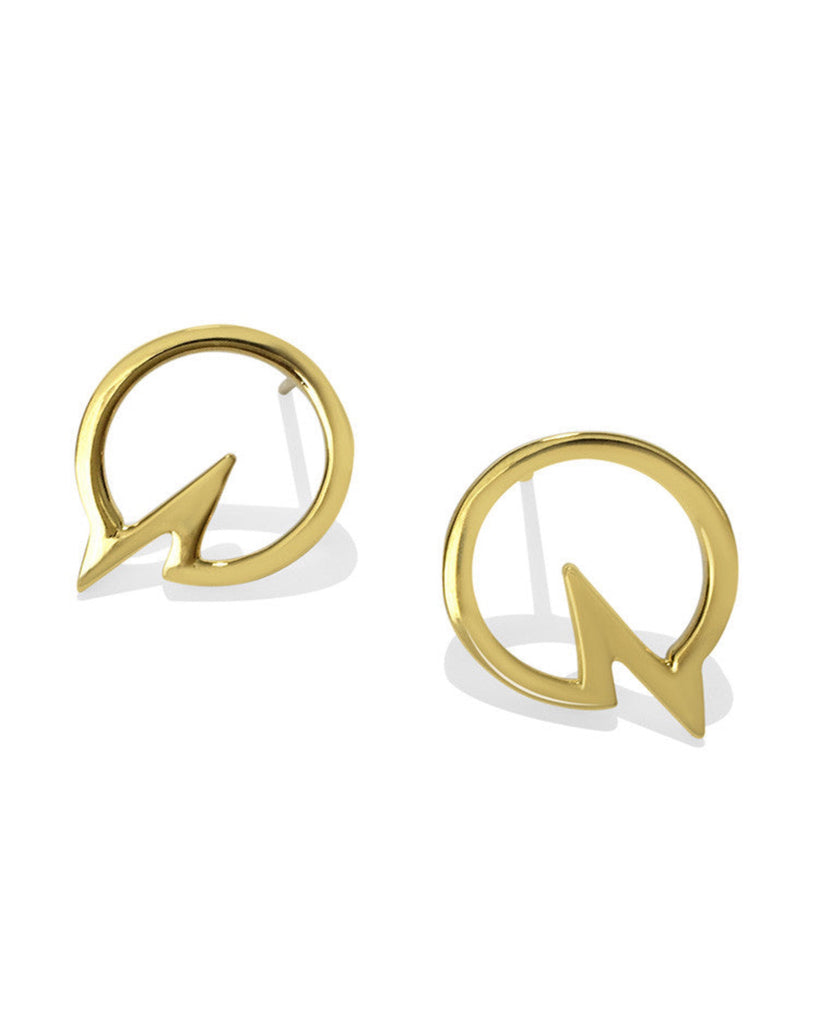 Heartbeat Earrings - Gold