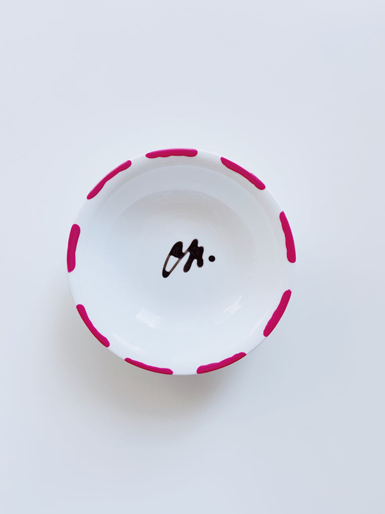 Medium porcelain jewellery dish  - Pink
