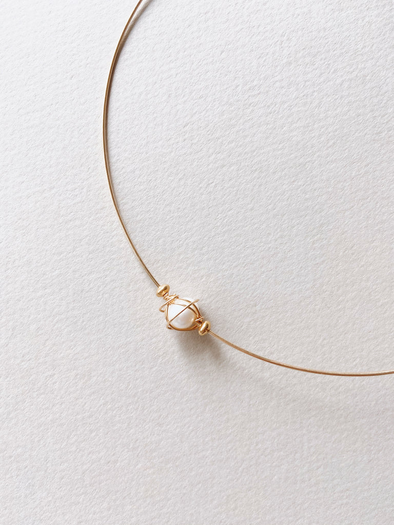 Fresh Water Pearl Choker in 14k Gold Filled