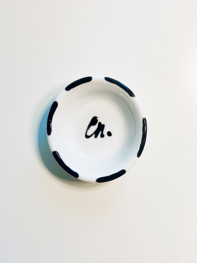 Mini Porcelain Jewellery Dish - Black
