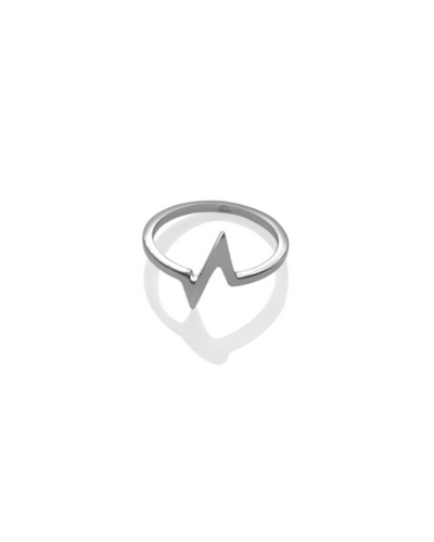 Heartbeat Ring - Silver