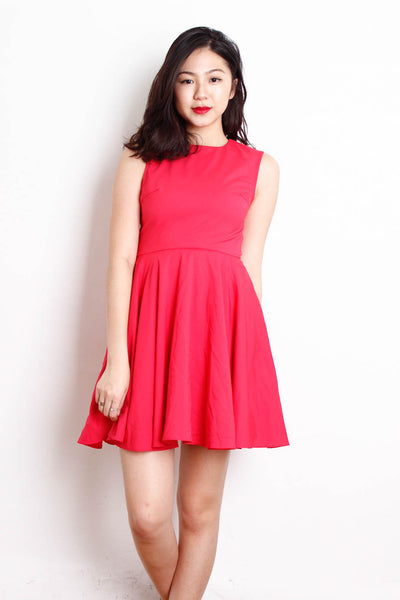 [LOVE BONITO] Classic Pink Skater Dress