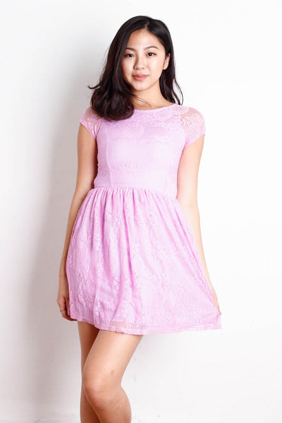 [BRIDGE] Lavender Lace Sweetheart Dress