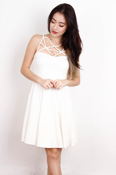 [LACE&EBONY] White Webbed Dress