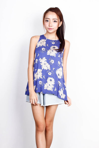 [THE CLOSET LOVER] Blue Floral Top