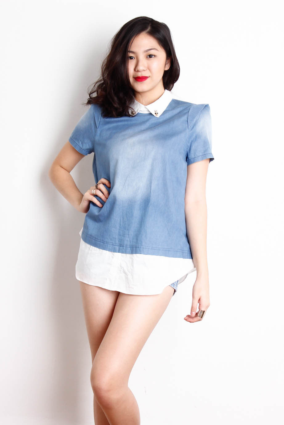 [FBC] Denim Blouse Tee