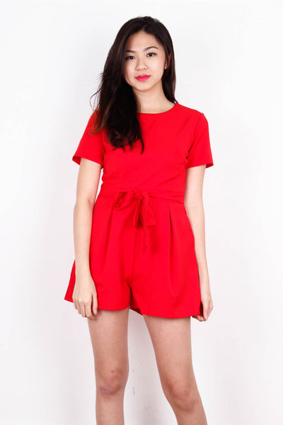 [PURPUR] Hot Red Playsuit