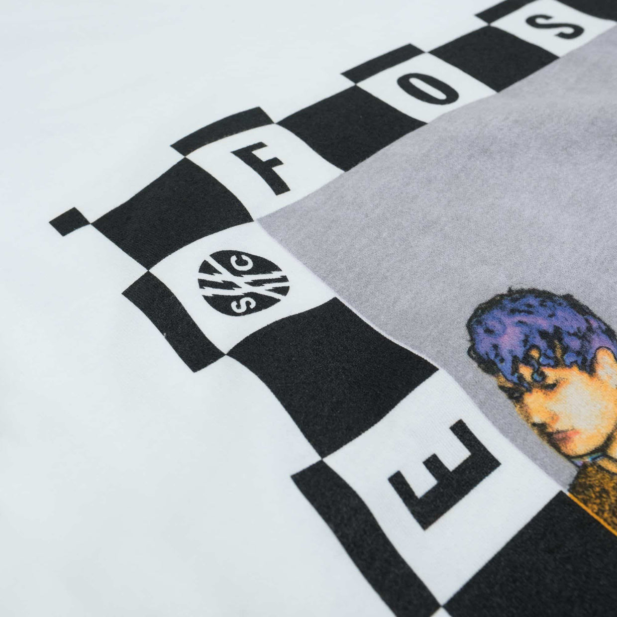 'Checkered Portrait' Tee