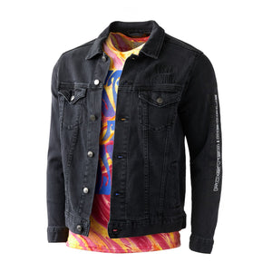 Foster The People Denim Jacket // Black
