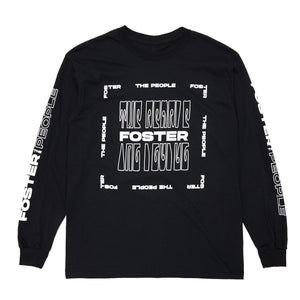 Foster The People Long Sleeve Tee // Black