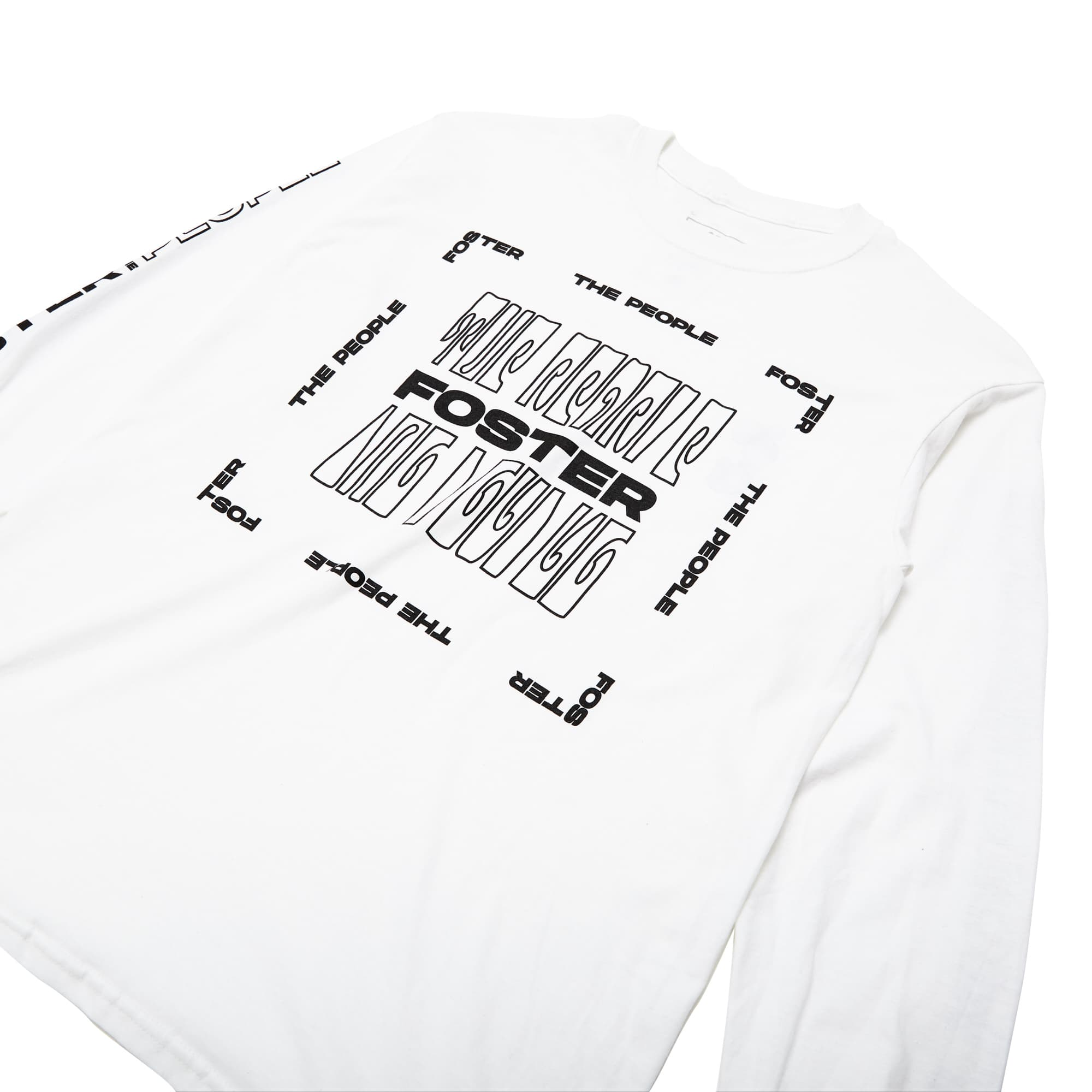 Foster The People Long Sleeve Tee // White