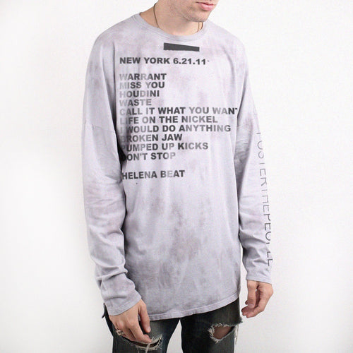 Foster Limited Edition Set List Long Sleeve