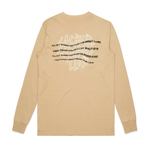 'Worst Nites' Long Sleeve // Tan