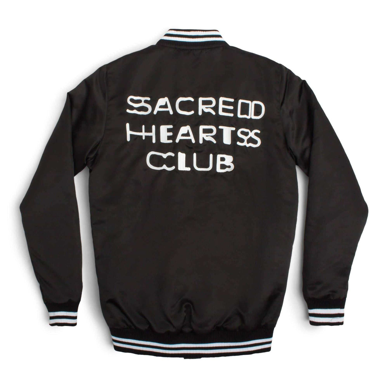 'Sacred Hearts Club' Letterman Jacket - Black
