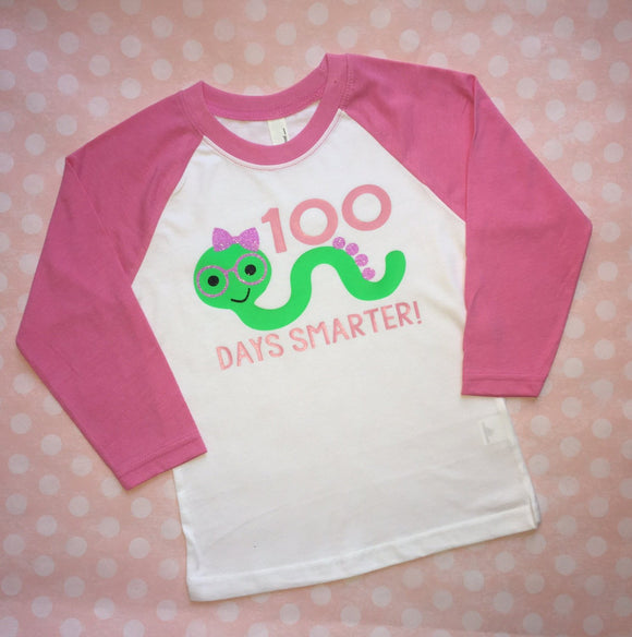 100 days of school shirt, girl 100 days lg school shirt, elementary shirt, child 100 days of school shirt, caterpillar shirt, girls glitter