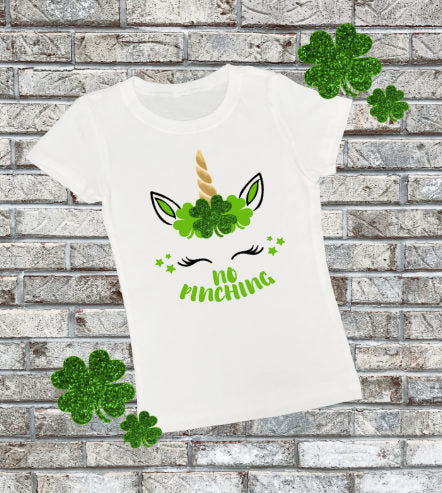 Youth St Patricks Day Unicorn Shirt