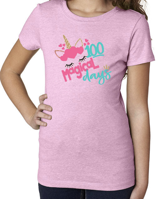 100 Days of School shirt, 100 Days of School, 100 Days, 100 Days Unicorn, 100 Days of Shool Girls Shirt, Girls School Shirt, Unicorn Shirt