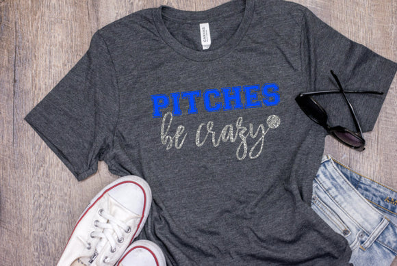 Pitches Be Crazy, Pitcher Shirt, Baseball Mom Shirts, Baseball shirt, Baseball mom, Baseball tshirt, Tball Mom, Baseball Mom Tshirt