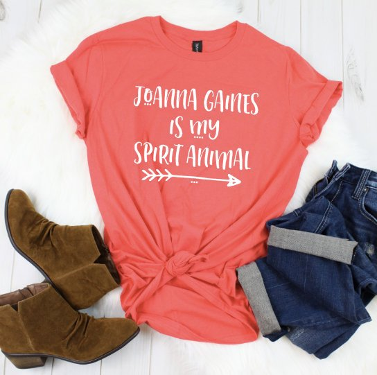 Joanna Gaines is my Spirit Animal, Joanna Gaines Shirt, Shiplap, Chip and Jo Shirt,Farmhouse Shirt,Cottage Shirt,Fixer Upper Shirt,DIY Shirt