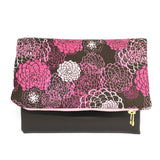 """Pink Blooms"" Foldover Clutch"