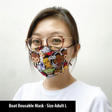 CUSTOM Boat Reusable Cotton Fabric Face Mask Sleeve Insert