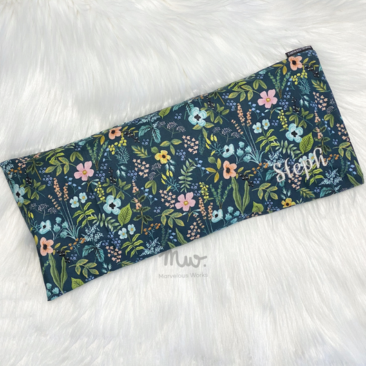 Herb Garden Navy - CUSTOM Beansprout Husk Pillow