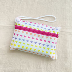 Rainbow Hearts  - Essentials Wristlet Pouch
